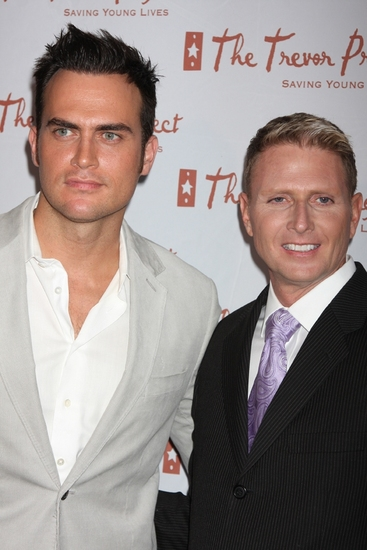 Cheyenne Jackson and  Charles Robbins, executive director and CEO, The Trevor Project at The 9th Annual Trevor Project New York Gala